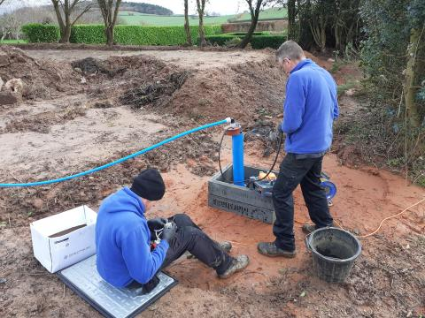 borehole drilling and pump installation