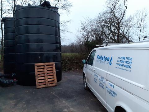 tank cleaning for water supplies in Devon
